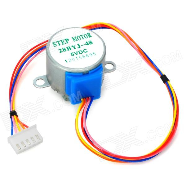28BYJ-48-5V 4-Phase 5-Wire Stepper Motor for 28BYJ-48-5V Microcontroller - Silver