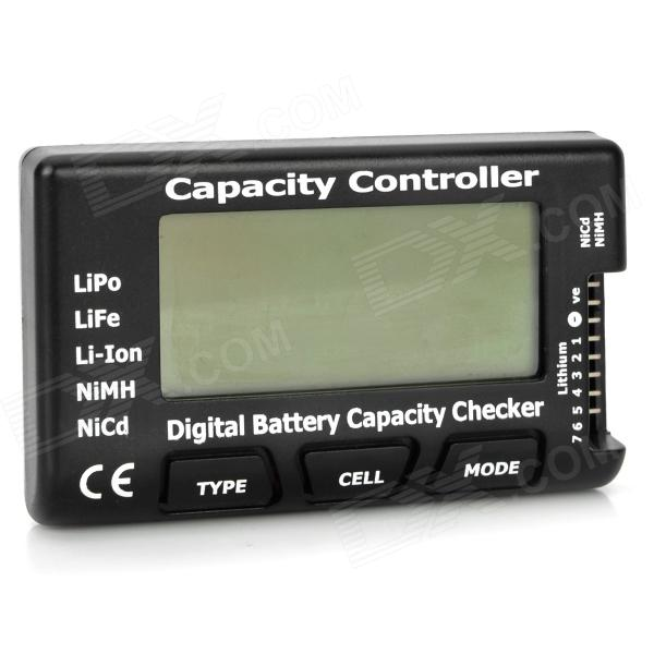 "2.1"" RC Cell Meter-7 Digital Battery Capacity Checker for NiCd - Black"