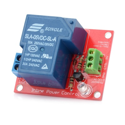 1-Channel 5V 30A High-Power Relay Module for Arduino