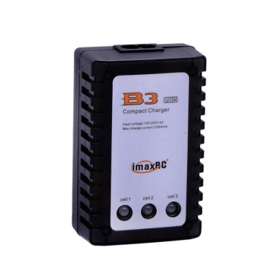 Imax RC B3 Compact Balance Charger for RC Toy 2S/ 3S Battery Pack - Black