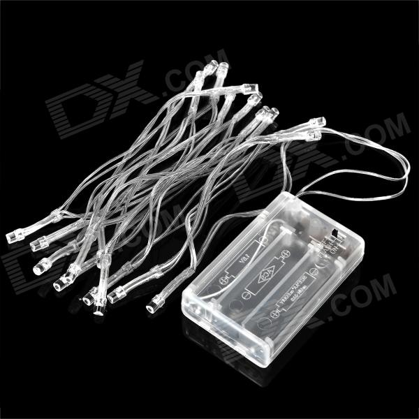 3W 20-LED White Decoration String Light for Wedding / Christmas / Fairy Party - Transparent