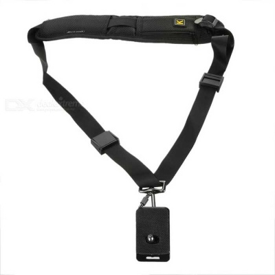 Anti-Slip Quick Sling Shoulder Belt Quick Strap for DSLR - Black