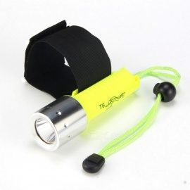 New-608 800lm White LED Diving Flashlight - Fluorescent Green