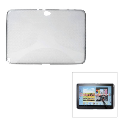 Protective TPU Soft Back Case for Samsung Galaxy Note 10.1 N8000 - Translucent Grey