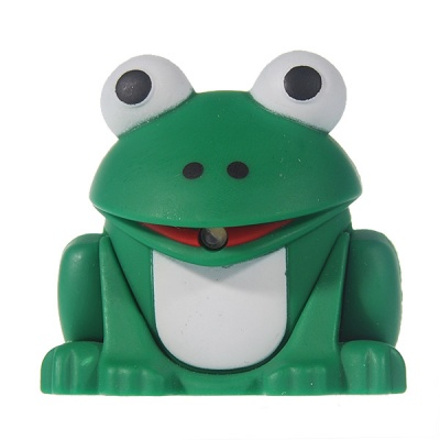 Frog LED Flashlight Keychain with Froggy Sound Effects