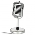 TRANSHINE Classical Vintage Standing Microphone - Silver (DC 5V)