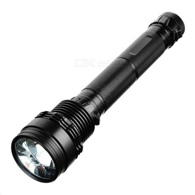 SDT-01 Rechargeable 85W HID 8500lm 3-Mode Cold White Flashlight - Black