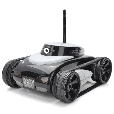 Iphone / Ipad IOS App Controlled 2-CH Wireless Tank w/ 300KP Camera - White + Black (6 x AA)