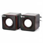 Wujixian 3100 Portable USB Powered 2-Channel 2 x 3W Speaker - Black + Orange