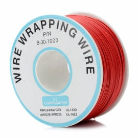 DIY Copper Core Jumper Wire Coil - Red (250m / 0.1cm)