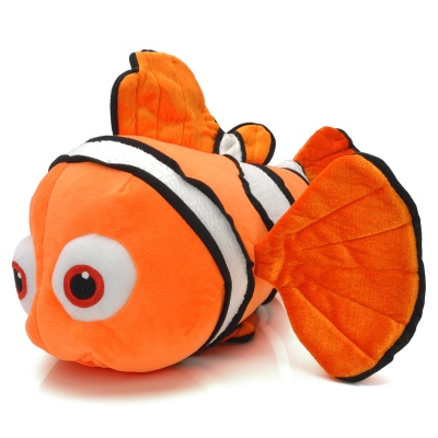 Cute Fish Style Soft Plush + PP Cotton Toy - Orange + White + Black