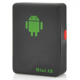 Mini A8 GSM Personal Position Tracker - Black