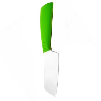 "6.5"" Chic Zirconia Ceramic Knife w/ ABS Handle - White + Green (165mm-Blade)"