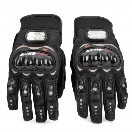 PRO-BIKER Motorcycle Racing Full-Finger Warm Gloves - Black (Size XL)
