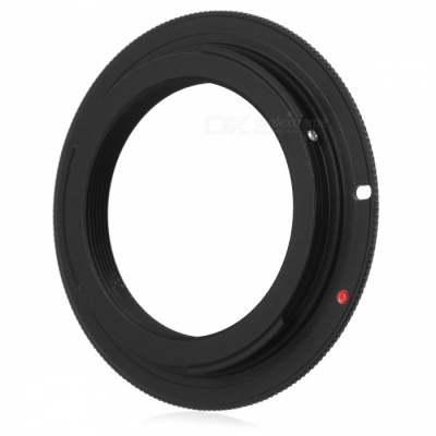 M42 Screw Mount Lens to Canon EOS Body Adapter Ring - Black