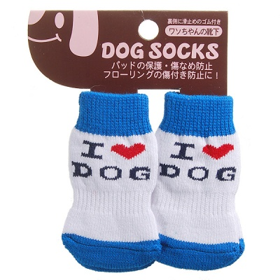 Japan-Design Cute Socks for Dogs/Cats - Large (4-Sock Set)