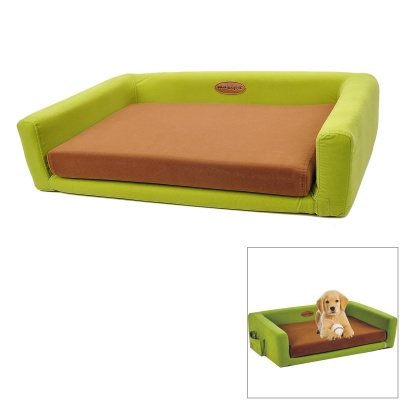 Maxipa mxp-17106 Comfortable Sponge Pet Sofa Bed w/ Mat - Green + Brown