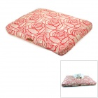 Maxipa mxp-17006 Flower Pattern Cotton Canvas Pet Bed Mat for Cat / Dog - Red + White