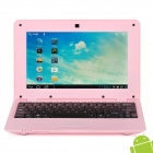 """710A 10"""" Screen Android 4.1.1 Netbook w/ Wi-Fi / RJ45 / Camera / HDMI / SD Slot - Pink"""