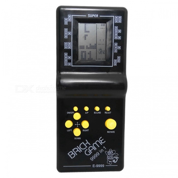 Classic Tetris Handheld Game Player - Black (2*AA)