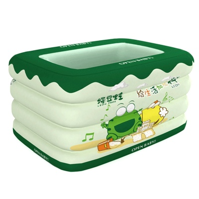 OPEN BABY OPBY-LDW Frog Leon Inflatable Baby Swimming Pool - Green