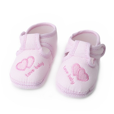 Anti-slip Baby Learning Walk Shoes - Pink (Size 12 / Pair)