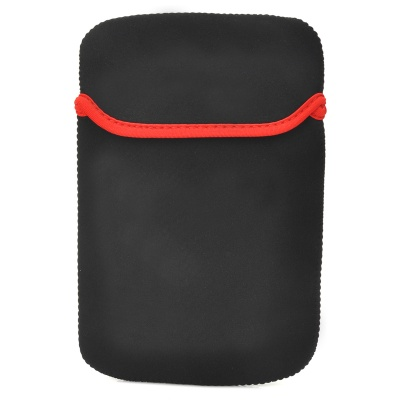 """Protective Water Resistant Anti-Static Sleeve Bag for 7"""" GPS / Tablet PC - Black + Red"""