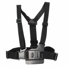 HR47 Chest Belt Shoulder Strap for GoPro / SJCAM / Xiaoyi - Black