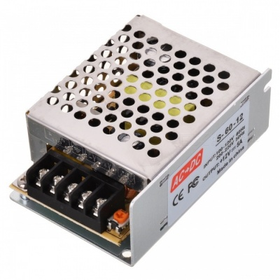 PWM LED 60W 12V 5A Stable High Efficient Power Converter - Silver