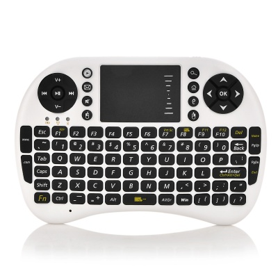 UKB-500-RF 2.4GHz Mini Wireless Air Mouse 92-key Keyboard - White + Black