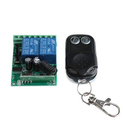 SZTY03 2-CH Remote Control Switch Set - Green+Blue+Black+Silver