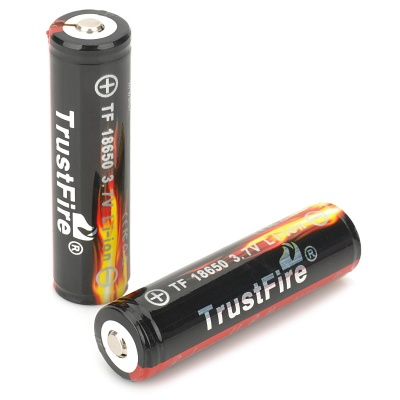 TrustFire Protected 18650 2400mAh Rechargeable Lithium Battery (2PCS)