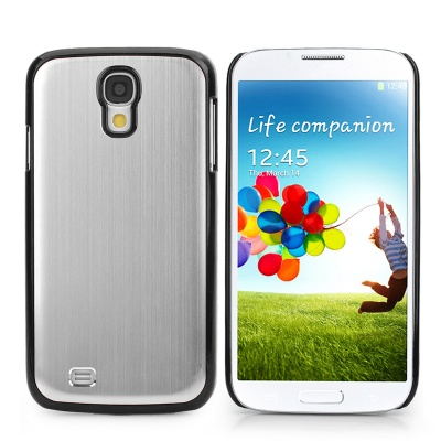 Protective Aluminum Alloy Back Case for Samsung Galaxy S4 i9500 - Silver + Black