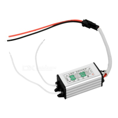 Waterproof 7W LED Constant Current Source Power Supply Driver - Silver + Black