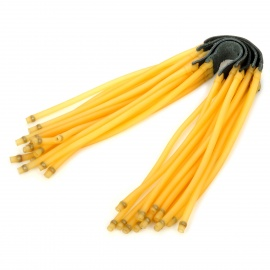 6-String Rubber Bands for Slingshot - Brown + Yellow