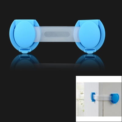 XY-02 Baby Drawer Safety Lock for Door Cabinet Refrigerator Window - Blue + Transparent