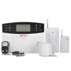 "WOLF-GUARD YL-007M2B 2.5"" LCD Anti-theft Digital Home GSM Security Alarm System Set - White"