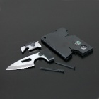 Compact Portable 9-in-1 Multifunctional Tool Plate - Black