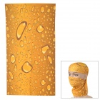 HL0099 Multifunction Outdoor Sports Seamless Head Scarf - Brown + Yellow