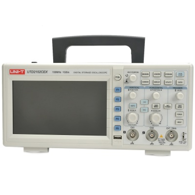 "UNI-T UTD2102CEX Digital 7"" TFT LCD 2-Channel Storage Oscilloscope - White + Grey"