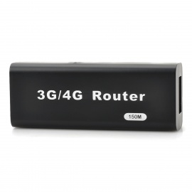 Mini Portable USB 2.0 150Mbps 3G/4G Wi-Fi Wireless Router - Black
