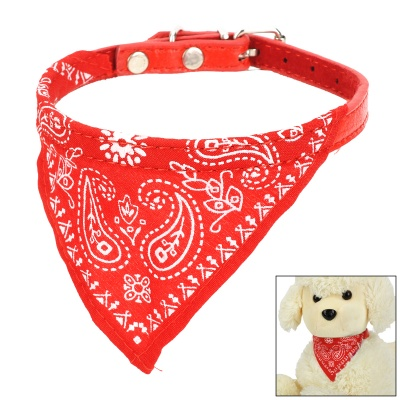 Adjustable Cute Pet Neckerchief Scarf for Dog - Red + White (M)