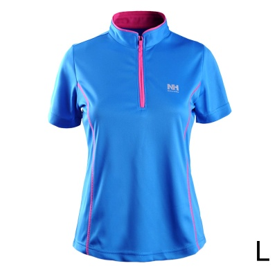 Naturehike-NH Quick Drying Polyester Sport Stand Collar T-shirt for Women - Blue (Size L)