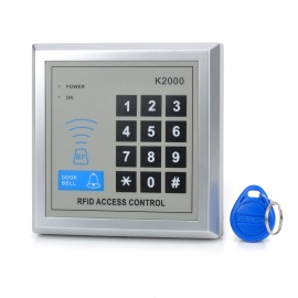 Password Access Control ID Card Reader Single Door System - Silver