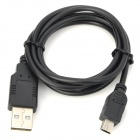 USB to Mini USB Data Charging Cable for Phone + More - Black (100cm)