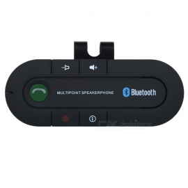 Dual-Standby Car Bluetooth V3.0+EDR Handsfree Speakerphone - Black