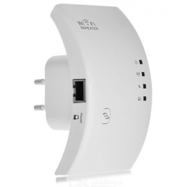 300Mbps Wireless Networking Signal Amplifier Wi-Fi Repeater - White (EU Plug)
