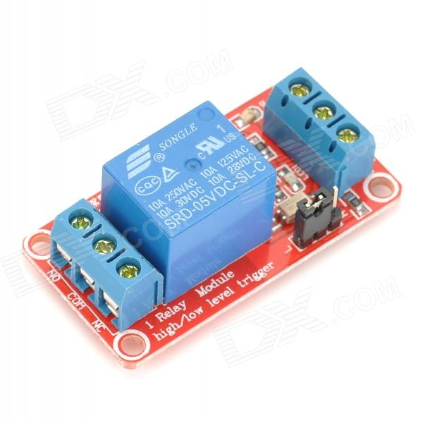 1-Channel 5V Relay Module w/ Opto-isolator - Red + Blue