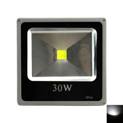 Outdoor Waterproof 30W 2400lm White LED Flood Light - Black + Grey