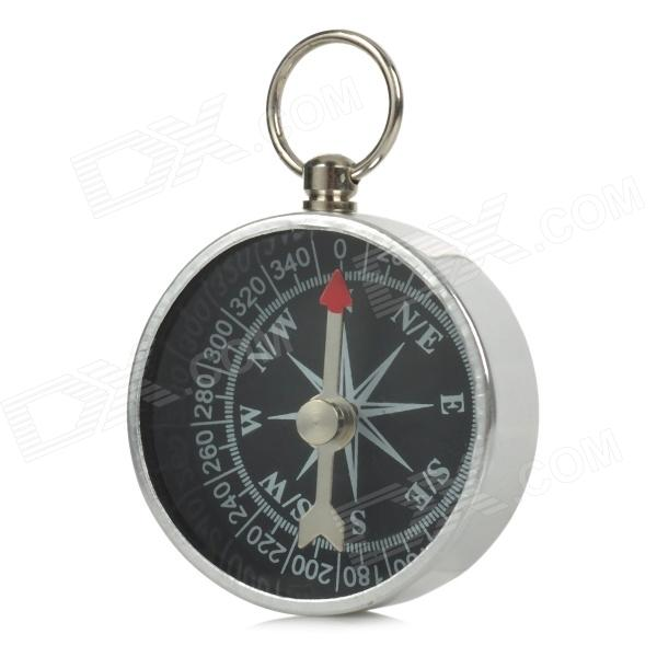 Lightweight and Portable Mini Aluminum Compass - Silver